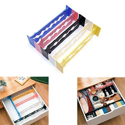 5er-Set einstellbare Schubladenteiler Organizer Separatoren - Dresser Organizer - für Schlafzimmer, Badezimmer, Schrank, Babyschublade, Schreibtisch, Babyschublade, Schreibtisch, Küchenspeicher (5PC)
