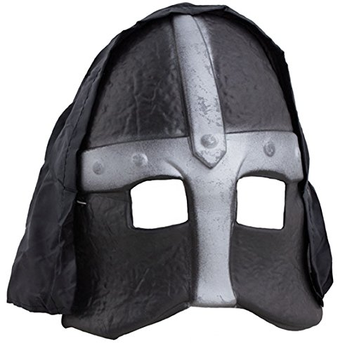 Karnevalsbud - Kostüm Visier Ritterfest Ritter Helm Gesicht Schutz Kettenoptik Kämpfer Warrior, (Toga Kostüme Männer)
