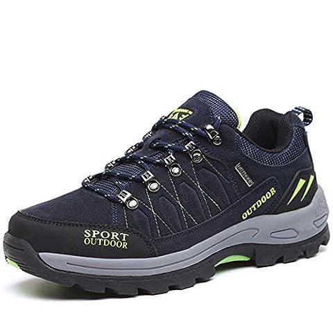 Männer / Damenmode Leder Wanderschuhe Herbst rutschfeste Outdoor Trekking Schuhe für das Laufen Wandern Camping Klettern , gray , 46