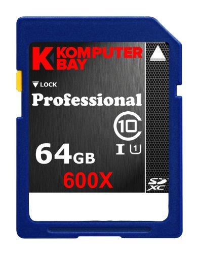 Komputerbay UHS-I 600X SDXC Secure Digital Extended Capacity   Class 10 Flash 64GB Speicherkarte (50Mbps Schreiben, 90Mbps Lesen)