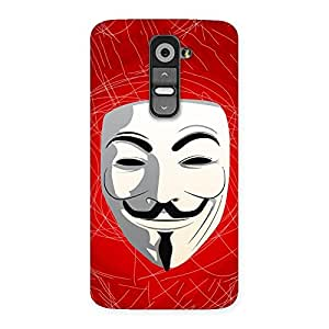 Stylish Red Anonymous Mask Back Case Cover for LG G2