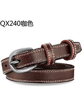 LLZZPPD Cinturón/Cinturones/Cinturón De Hebilla Pin Femenino Fino Cinturón Femenino Decorativo/Boda/Cumpleaños...