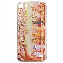 Guran® Silicona Funda Carcasa para Doogee F3 / F3 Pro Smartphone Bumper TPU case Cover-Gatos y cereza