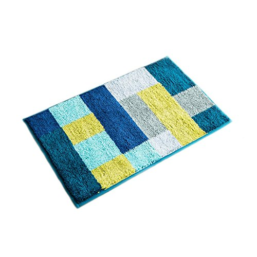 Tür-matte, Wolldecke (XUANLAN Teppich-Tür-Wolldecken, Badezimmer-Toiletten-Tür-Saug-Auflage rutschfeste Matte ( Color : Blue , Size : S ))