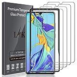 LK Protection écran pour Huawei P30, [4 Pack] [Max Coverage] Verre Trempé Film Protection[Installation Facile Cadre d'Alignement] [sans Bulles] avec Garantie de Remplacement à Vie