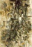 JH Lacrocon El Acordeonista De 1911 de Pablo Picasso - 80X120 cm Pinturas Abstracto a Mano Reproducción Sobre Lienzo Enrollado Decoración Pared para Salón