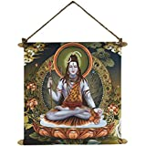 TYYC Diwali Gift Items, Heavenly Lord Shiva Wall Paintings, Hangings Canvas Scroll Poster For Home Decor - 18x24 Inches
