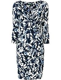 Ralph Lauren Mujer 250683359001 Blanco/Azul Poliéster Vestido