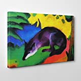 BIG Arty Pie Franz Marc The Wolf Canvas Print, Multi-Colour, 30 x 20-Inch