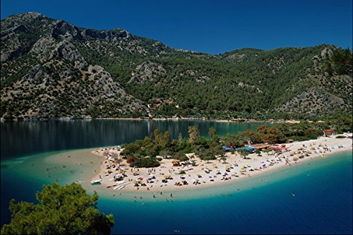 739096 Lagoon Beach Olu Deniz Turkey A4 Photo Poster Print 10x8