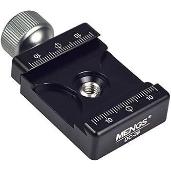 MENGS® DC-38 Klemm für Kamera Schnellwechselplatte einstellbar solide Aluminiumgehäuse Kompatibel Mit RRS/ARCA-SWISS/kirk/wimberley/Markins/sunwayfoto/kangrinpoche/Benro/SIRUI etc