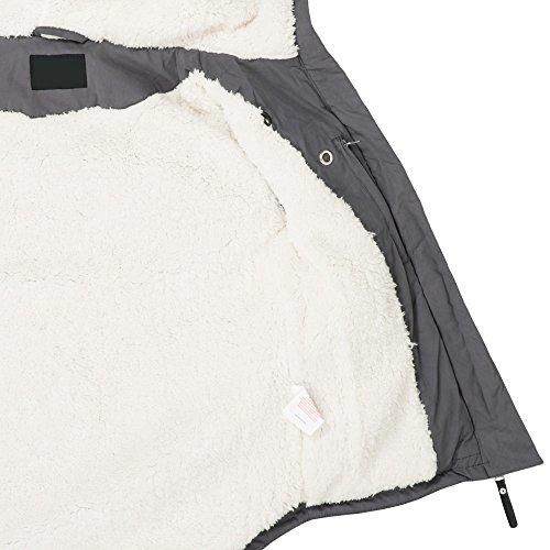 Ausnahme-Zustand Azuonda Damen Winterjacke Parka Jacke warm Teddyfell Kapuze XS-XL AZ25, Farbe:Grau, Größe:XS / 34 - 5