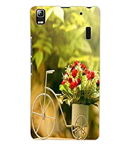 ColourCraft Beautiful Bouquet Bike Design Back Case Cover for LENOVO A7000 TURBO