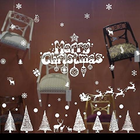 Las Decoraciones De Navidad, Escaparates, Paredes De Vidrio Adhesivos Adhesivos Puerta Ventana Dormitorio Papel Autoadhesivo Carteles ,130*110Cm,1.130*110Cm.