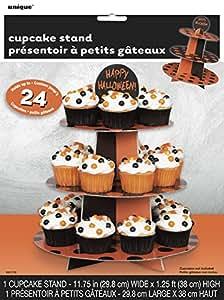 Unique Party Supplies Orange und Schwarz Polka Dot HALLOWEEN Cupcake-Ständer