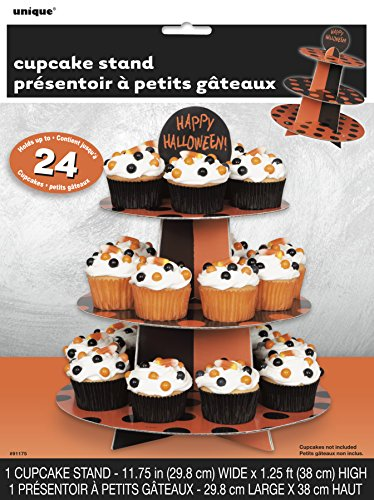 Unique Party Supplies Orange und Schwarz Polka Dot HALLOWEEN Cupcake-Ständer