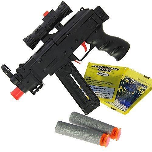 Nuovo 2017 bimbi bambini uzi 2-in-1 da tiro gel morbido acqua cristallo a proiettile e schiuma freccette gioco fucile pistole