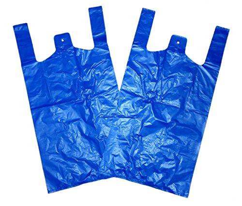 THALI Outlet Leeds-100x groß blau recyceltem Jumbo Weste Kunststoff Tragetaschen 27,9x 43,2x 53,3cm-20Micron BR3
