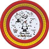 """19655 - PAPSTAR - Ohne Dich ist Party doof - 6 Schalen, Pappe """"sheepworld"""" rund Ø 16,5 cm · 2,9 cm"""