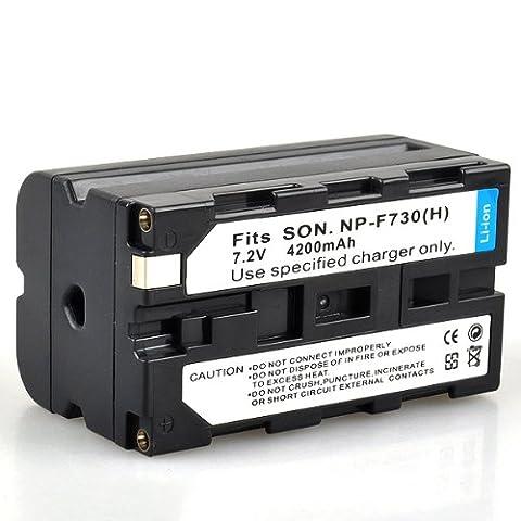 Neewer Batterie Li-ion de remplacement pour Sony CCD-TR3 NP-F730 NP-F730H/TR918 SC5/DCR-TRV125 TRV420 TRV620/////TR8000 TR8100 VX2001 DU1 vidéo/disque) (unité PD190P DSR-EVO - 250 (enregistreur vidéo) HDR-FX1 HVR-HD1000U HVR-Z1 HVR-Z1E HVR-Z1J HVR-Z1N HVR-Z1P HVR-V1J HVL - 20DW (vidéo), HVL-ML20 Marine 4200mAh lumière 7,2 V