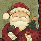 Amscan, Tovaglioli natalizi, motivo: Babbo Natale, 33 x 33 cm, 16 pz.