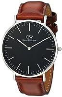 Daniel Wellington DW00100130 - Relojes en acero inoxidable con correa de piel, Unisex, color negro/marrón de Daniel Wellington