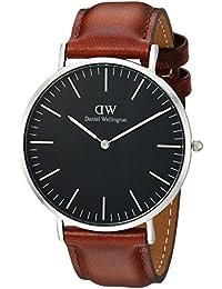 Daniel Wellington Classic Herren-Armbanduhr Analog Quarz Leder - DW00100130