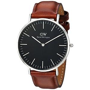 Daniel Wellington Classic St Mawes Reloj Marrón/Plata, 40 mm, Cuero para