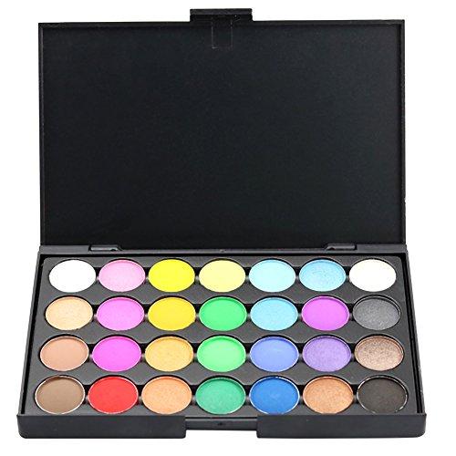 ROPALIA 28 Farben Matte Lidschatten Paletten Makeup Auge Kosmetik - Halloween-make-up Geek
