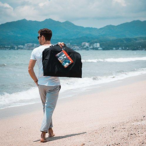 TRAVANDO ® Suit Carrier with 15″ Laptop Compartment, Shoulder Strap | Dress bag for Business Travel | Cover for Garments | Clothes Storage for Airline Luggage | Suit Bag, Cabin Suitbag Holder for Men