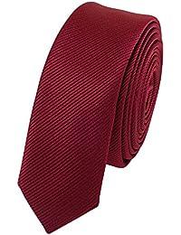 Étroit Cravate de Fabio Farini en rouge 3cm Largeur