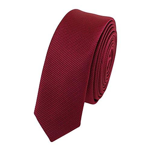 Schmale, stilvolle Fabio Farini Krawatte 3 cm X-Slim in verschiedenen Farben, Rot