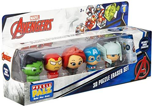 Marvel SAMBRO Avengers - 3D Radiergummi-Set mit 6 Radiergummi Puzzlefiguren