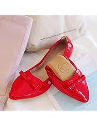 GAOLIM infirmières Chaussures Blanc Chaussures plates avec un Sol mou esthéticienne Noir Chaussures de travail confortable Chaussures de chaussures Blanc pour femme, Noir, 40