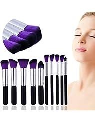 [Sponsorisé]Lot de brosse de maquillage 10pcs Premium Pinceaux de maquillage professionnel Fond de teint blending Contour...