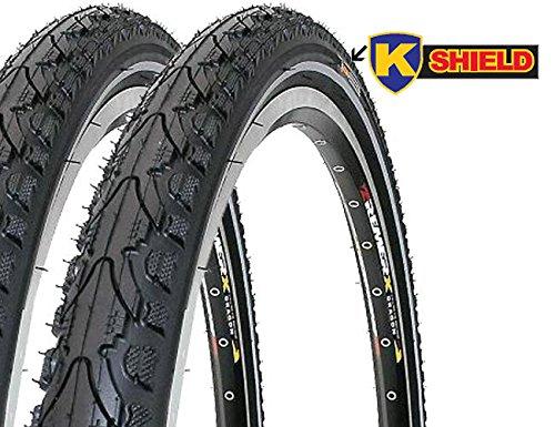 2 x Fahrradreifen Kenda Pannensicher 28 Zoll 28x1.75 47-622 700x45C K-Shield inklusive 2 x Schlauch mit Autoventil