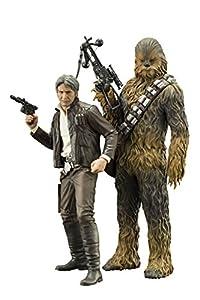 STAR WARS SW120 Episodio 7 Han Solo y Chewbacca Artfx+ Estatua