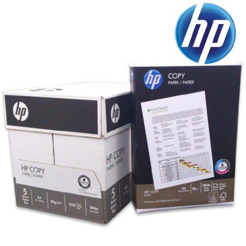 Druckerpapier, Kopierpapier weiß A4 80g/m² mit ColorLok-Technologie, 2500 Blatt von HP Hewlett Packard.
