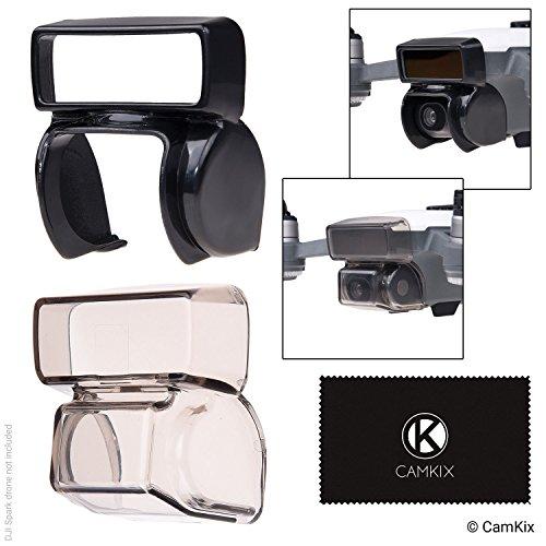CamKix Sonnenblende + 2in1 Gimbal-Sperre und Kamerablende Kompatibel mit DJI Spark - Sperrt die Gimbalposition - Schützt die Kamera vor Stößen - Sonnenblende blockiert übermäßiges Sonnenlicht -