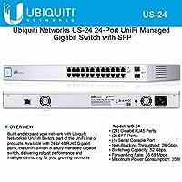سويتش جيجابت مدار UniFi US-24 24 منفذًا مع نظام تشغيل SFF من Ubiquiti Networks
