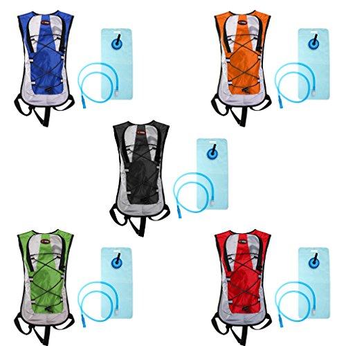 Gazechimp Outdoor Sport Trinkrucksack mit 2L Trinkblase, Sport Rucksack für Radfahren, Wandern, Laufen, Rennen Blau