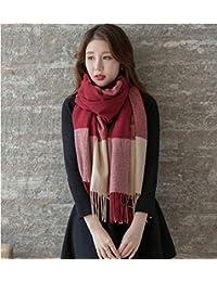 Tao Bufanda de Invierno Modelos Femeninos sección Gruesa versión Coreana cálida del Salvaje párrafo Largo mantón