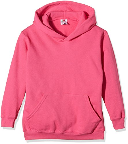 Fruit of the Loom Jungen Kapuzenpullover Pink (Fuchsia)
