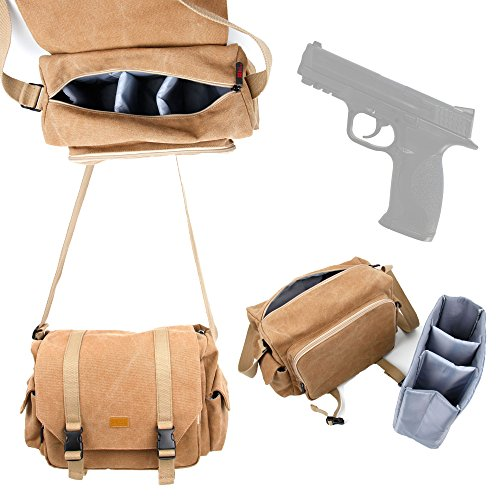 duragadget-smith-wesson-mp-airgun-carry-storage-bag-deluxe-canvas-shoulder-bag-in-tan-brown-with-det