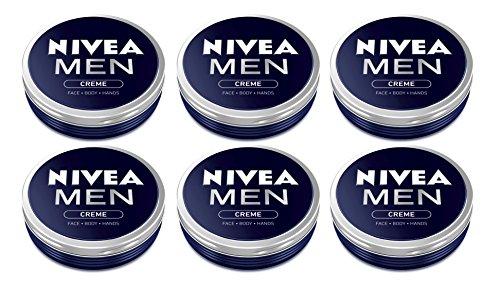 6x-nivea-men-creme-cream-face-hand-body-moisturiser-dry-skin-75ml-tin