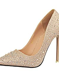 LvYuan-ggx Zapatos de mujer-Tac¨®n Stiletto-Tacones-Tacones-Casual-PU-Negro / Azul / Rosa / Plata / Gris / Desnudo , nude-us7.5 / eu38 / uk5.5 / cn38 , nude-us7.5 / eu38 / uk5.5 / cn38