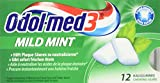 Odol-Med 3 Mildmint Gum Blister, 12 Stück