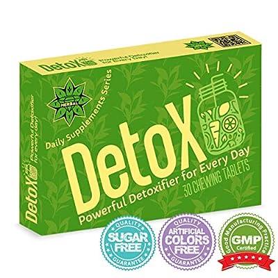 Détox complète Stimule, protège et détoxifie le foie | Cvetita Herbal UK | Coeur de desintox - 30 comprimés avec du Vitamine C, ?xtrait de thé vert, Chardon | Désintoxication - la mission est possible | Détoxifier efficacement les toxines du foie, Détendr