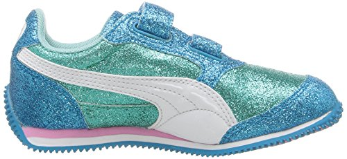 Puma Steeple Glitz Glam V Ps Synthétique Baskets ARUBA BLUE-Puma White