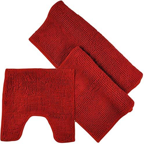 Juego 2 3 piezas alfombras baño WohnDirect, 45x